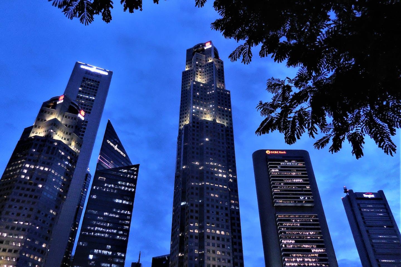 Banks on the Singapore skyline