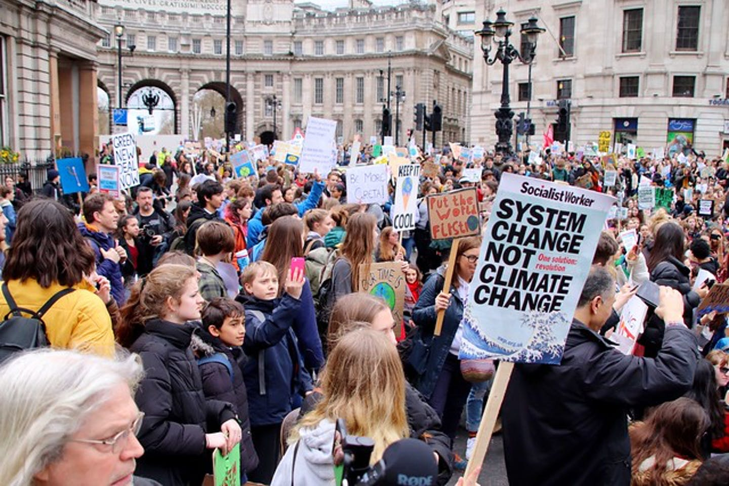 system change climate protest