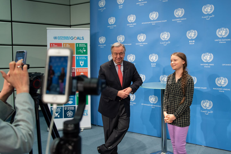 Greta and Antonio Guterres