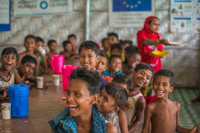 Rohingya refugee children hunger