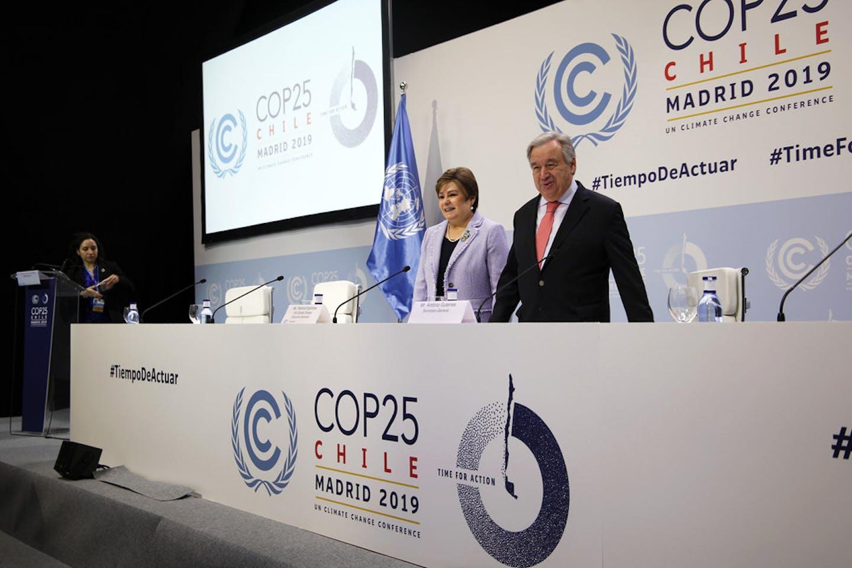 Antonio Guterres and Patricia Espinosa COP25