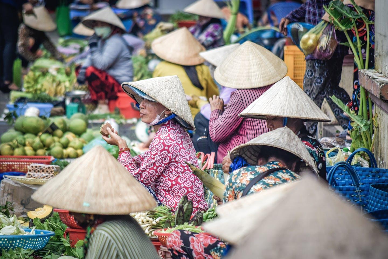 cambodia market women