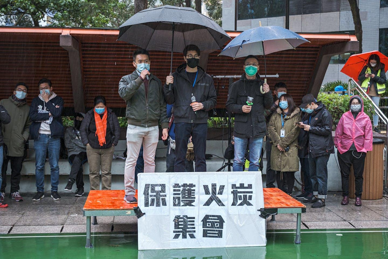 coronavirus protesters hong kong