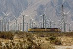 wind farm on the San Gorgonio Mountain Pass in California