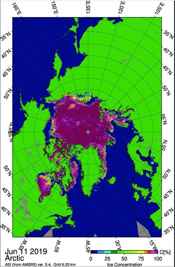 arctic extent map 2