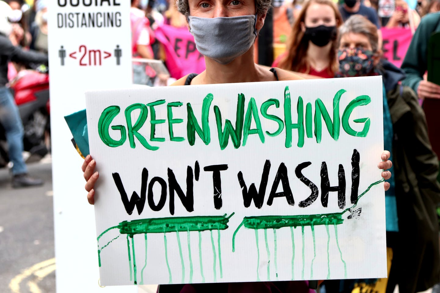 Protest against greenwashing.