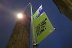 COP26 banner, Glasgow Cross