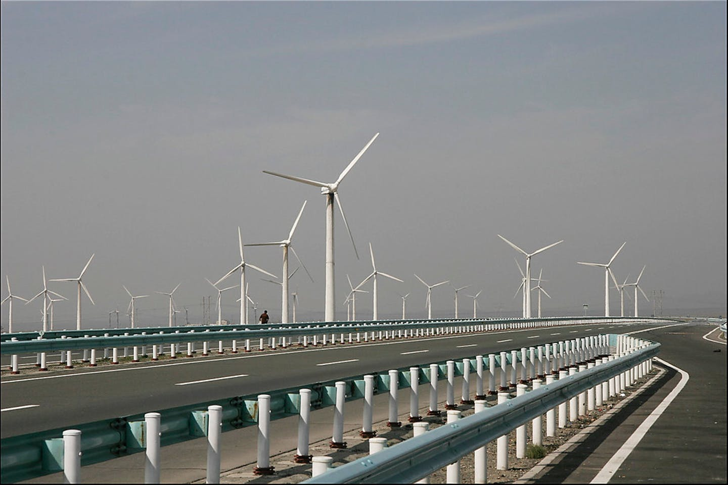 Dabancheng wind farm in China's Xinjiang province