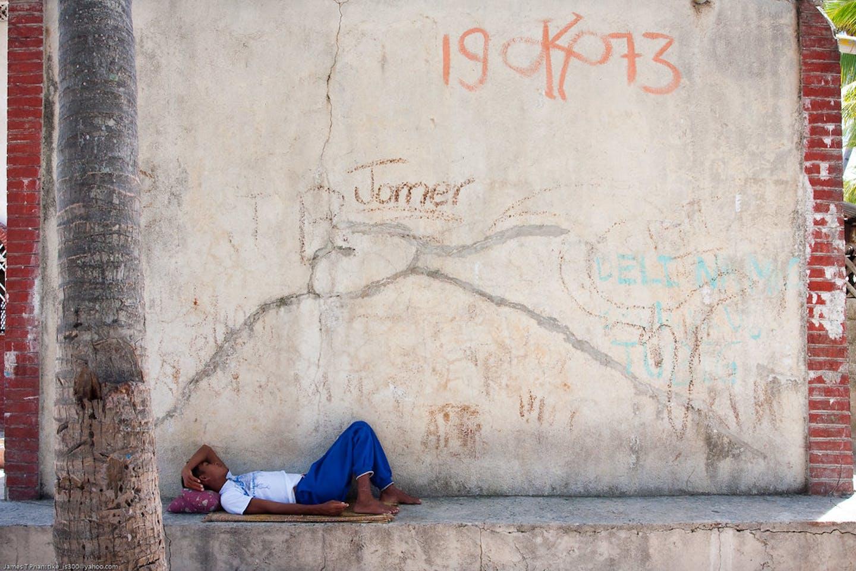 A homeless man in Cebu City, Philippines