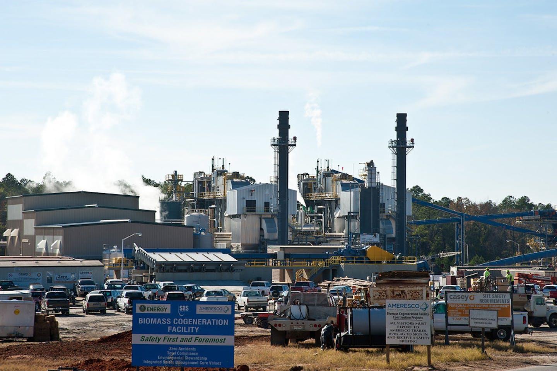 biomass facility in Savannah, Georgia in the United States
