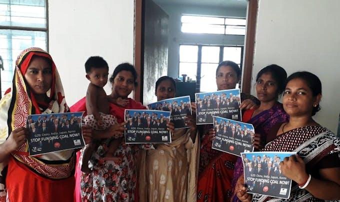 coal protests bangladesh