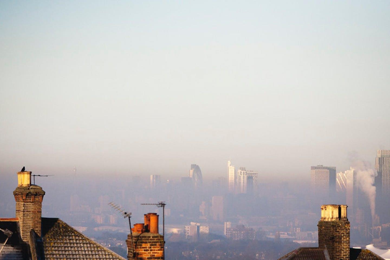 Smoke in London skyline