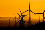 yellow sky wind turbines