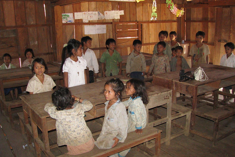 remote cambodian school
