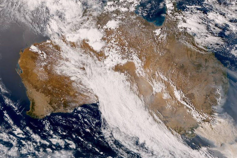 australian bush fire satellite imagery