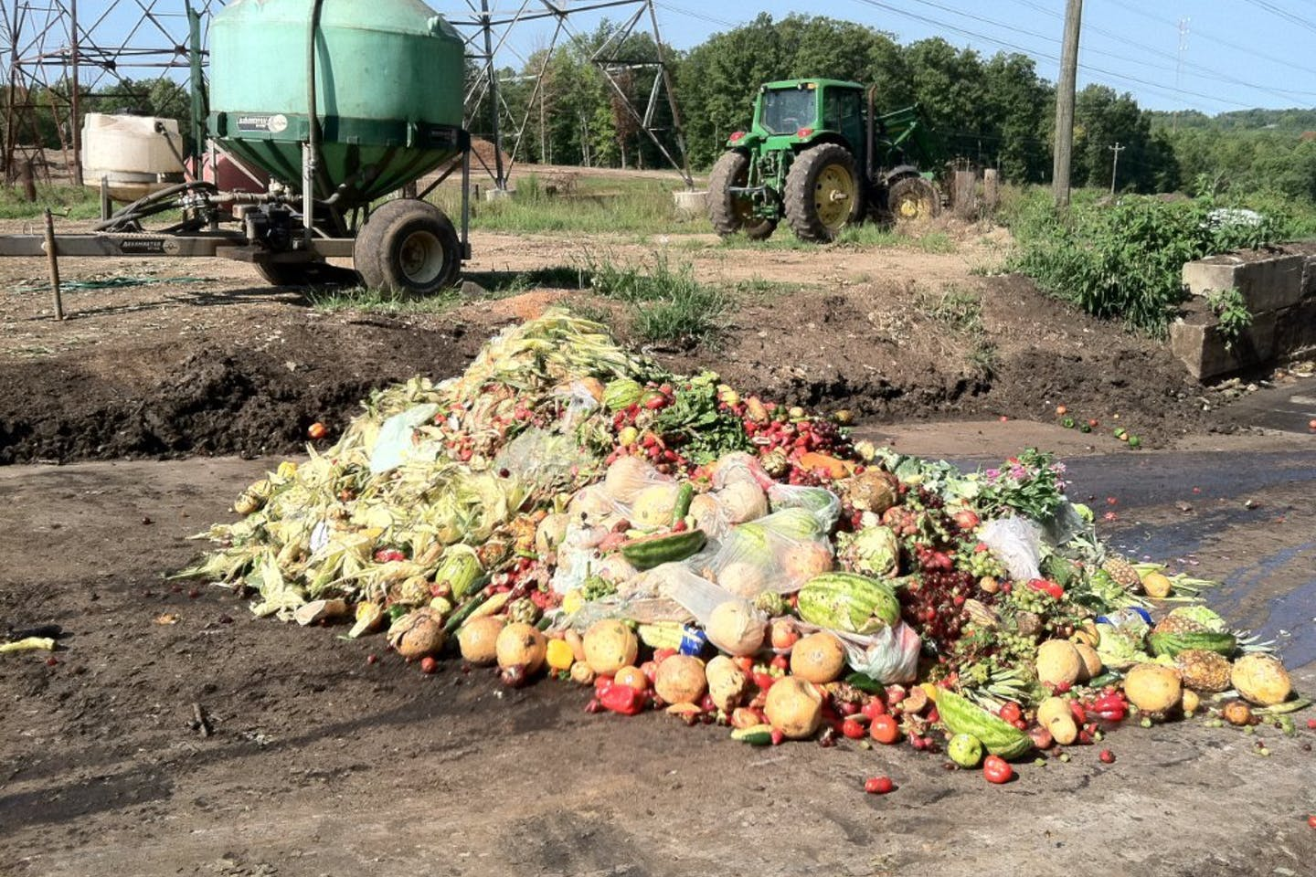 food waste piling up