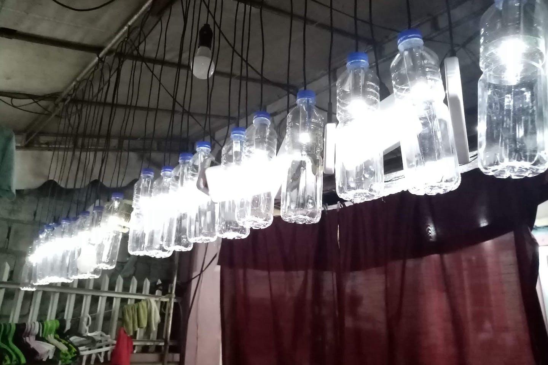 solar lamps taal volcano