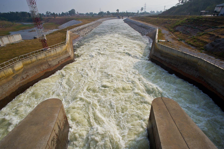 Hydropower dam in Laos
