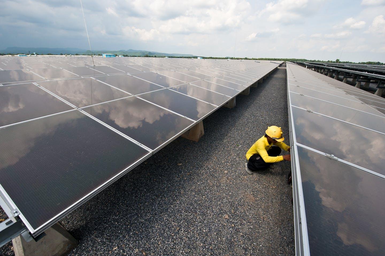 Solar Farm Thailand Lopburi