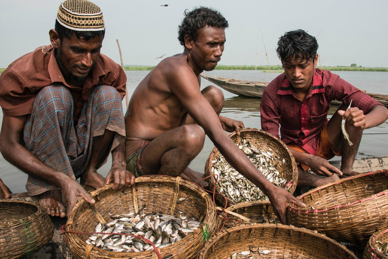 Fishermen in Sunamganj, Bangladesh