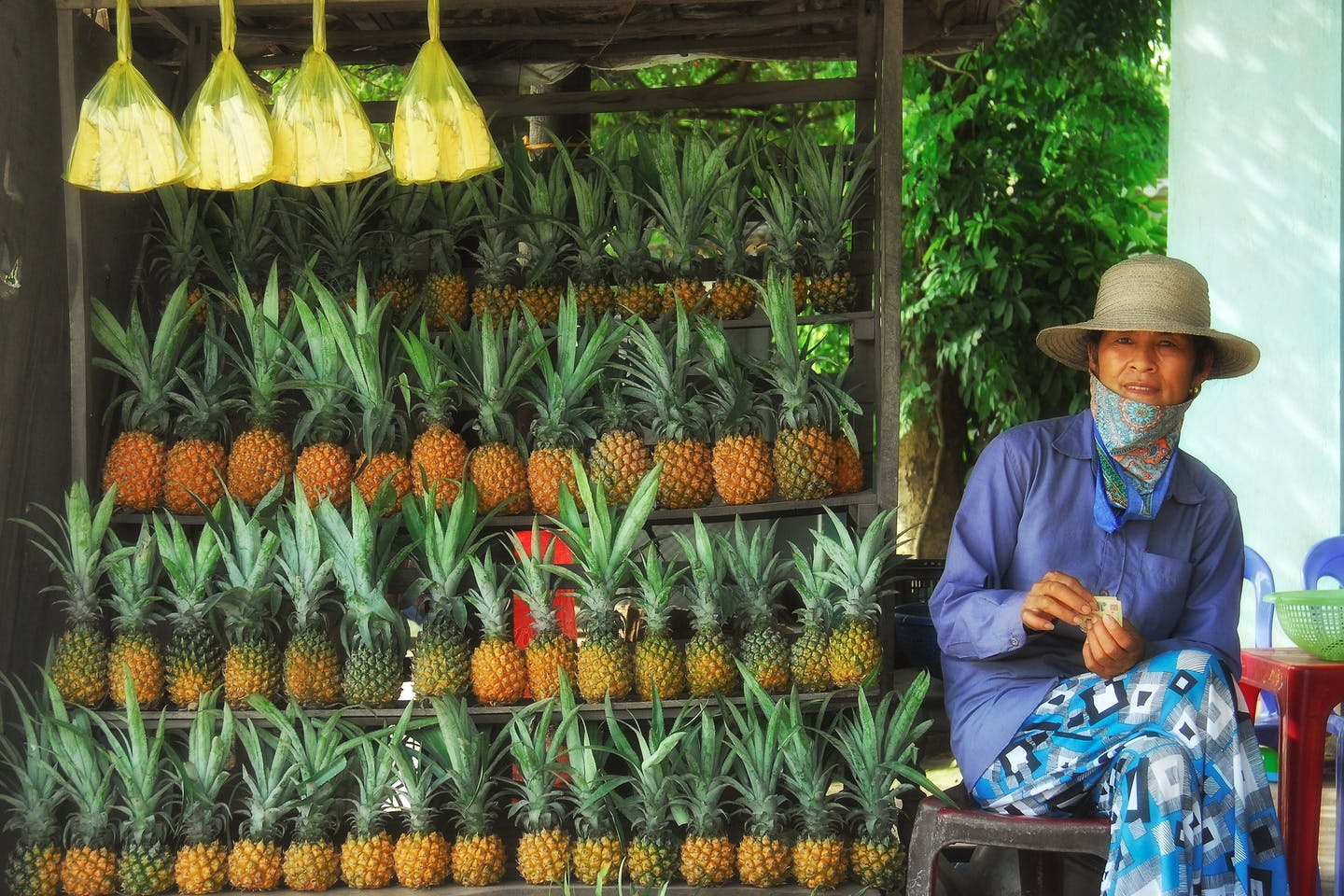 pineapple seller in Vietnam
