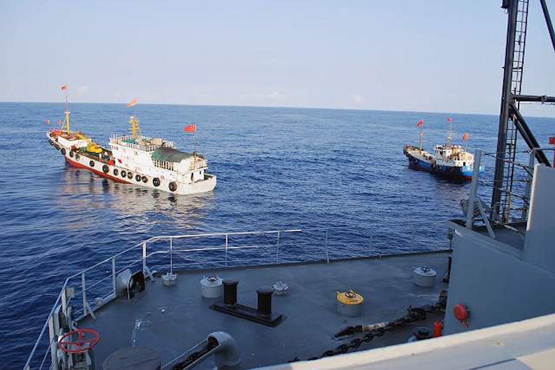 Chinese fishing trawlers