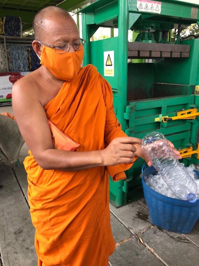 monks mask covid