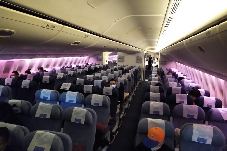 empty flight fr PEK to LAX