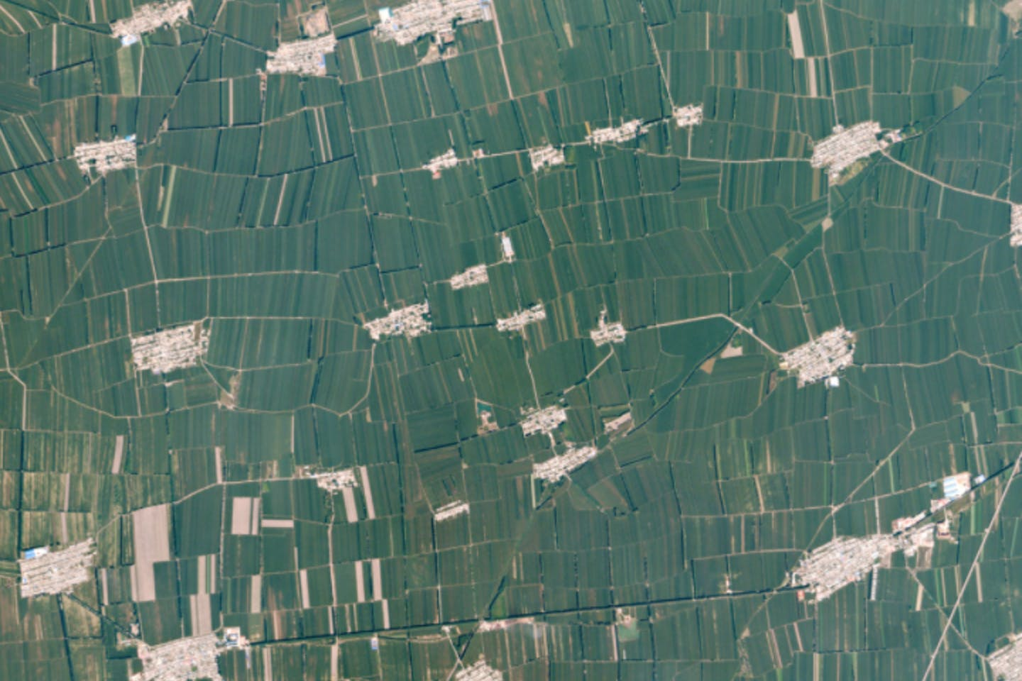 Farming in China seen from satellite