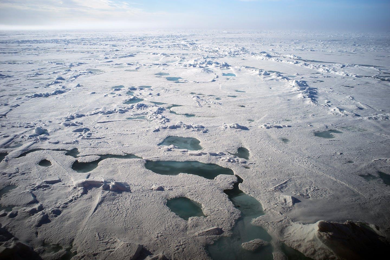 Arctic ice in Russia's Franz Josef Land archipelago