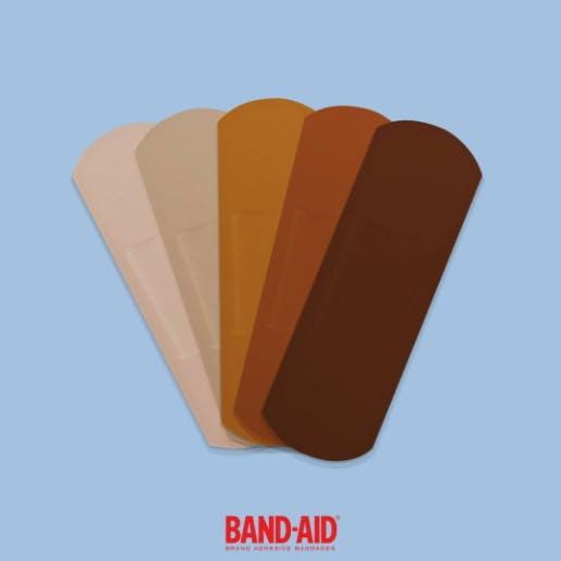 Band-Aid skin tone bandages