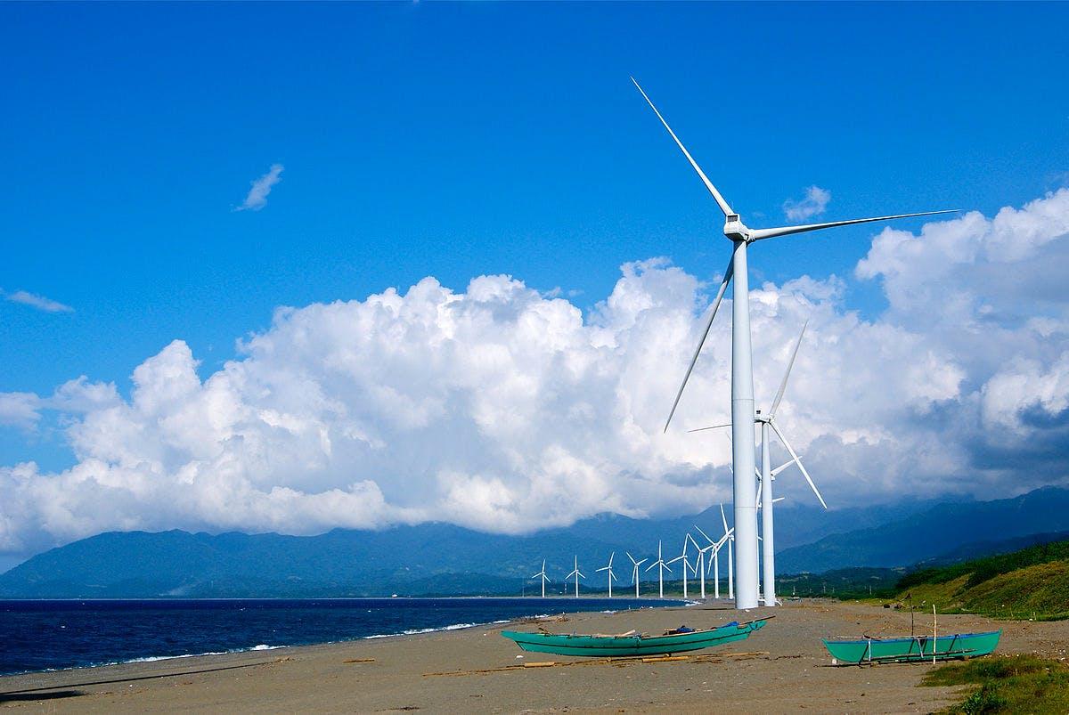 Bangui Wind Farm in Bangui, Ilocos Norte, Philippines