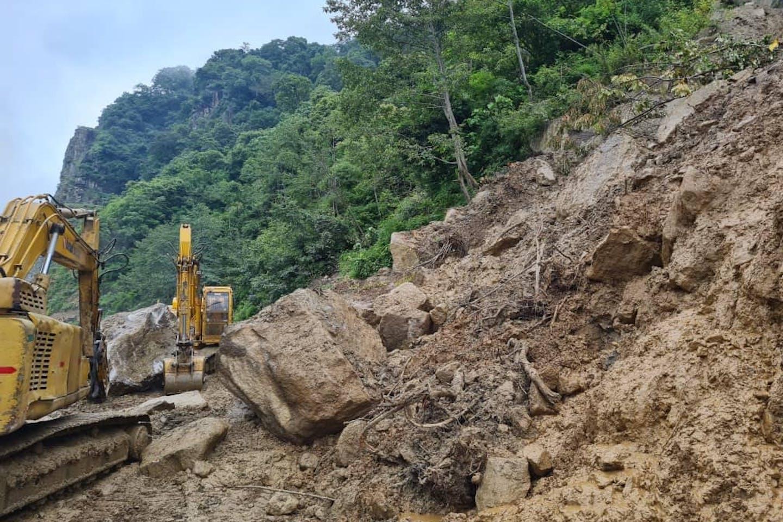 Landslide in Bhutan on July 2021