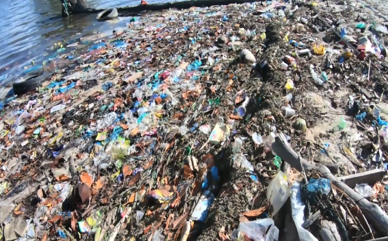 Bintan beach trash