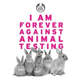 The Body Shop's Against Animal Testing campaign