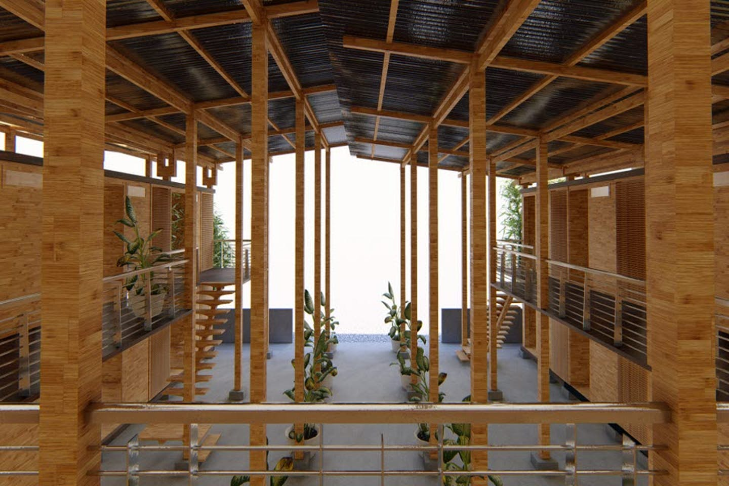 The bamboo house designed by Earl Patrick Forlales, which won the Cities of the Future competition in 2019.