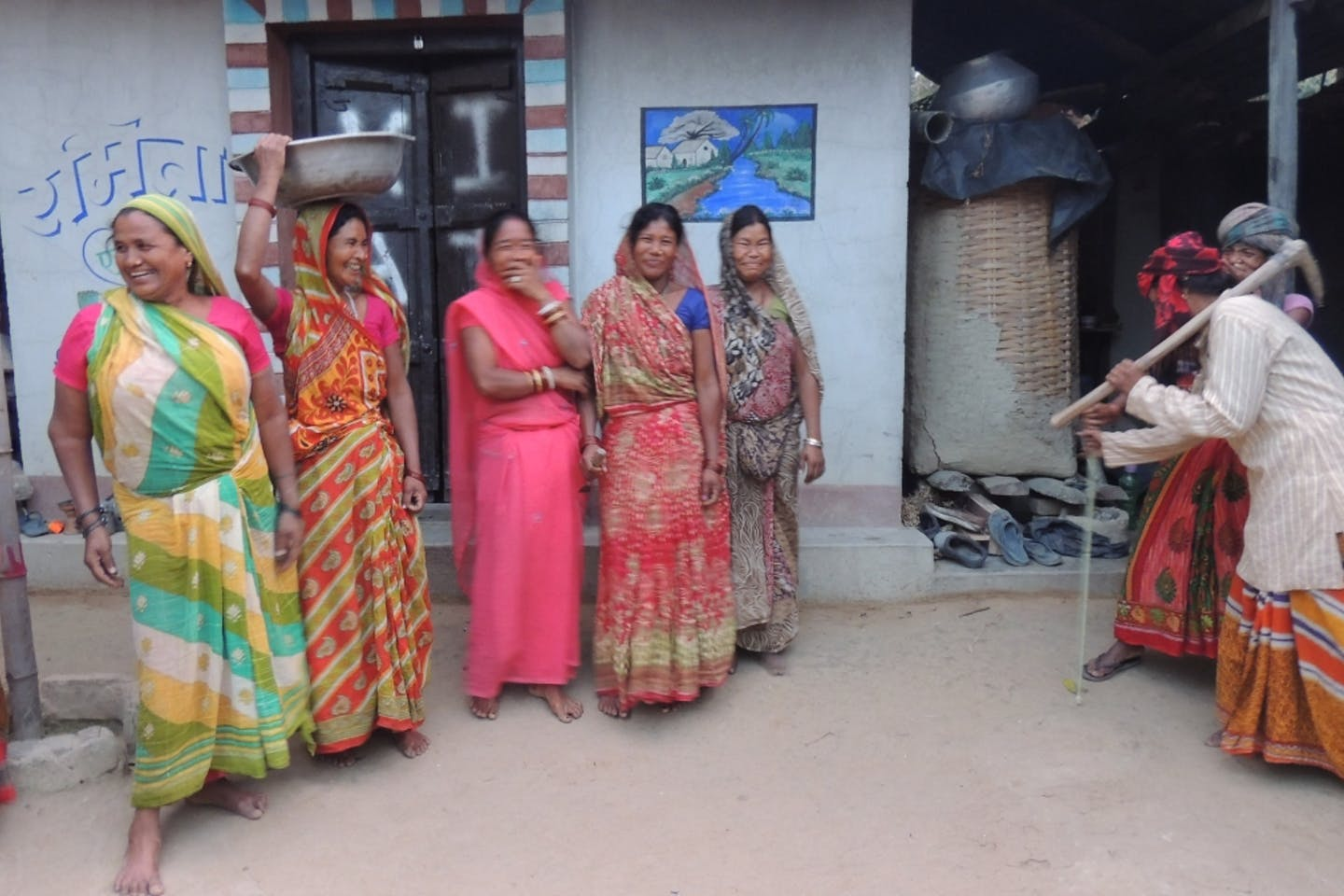 Bargaining Role Play on gender roles in agriculture in Saptari, Nepal.