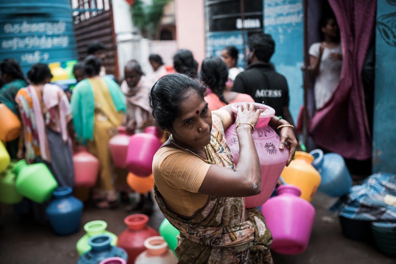 Chennai resident, water crisis