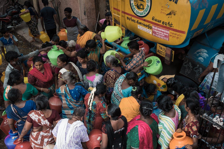 Chennai residents, water crisis, MS Nagar
