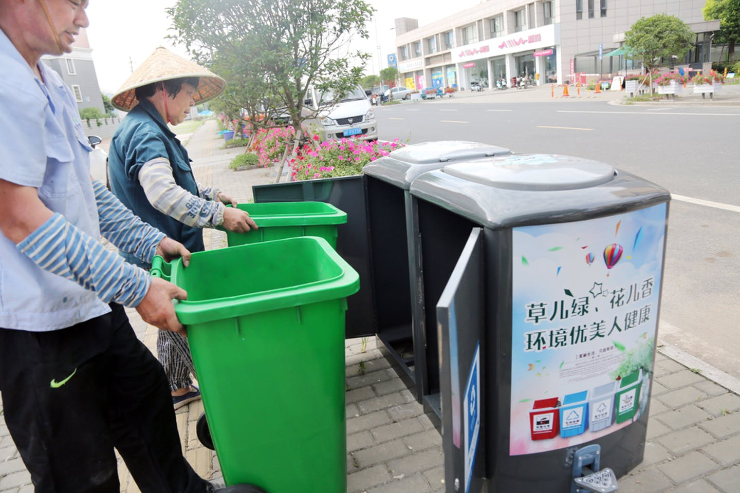 recyciing bins china