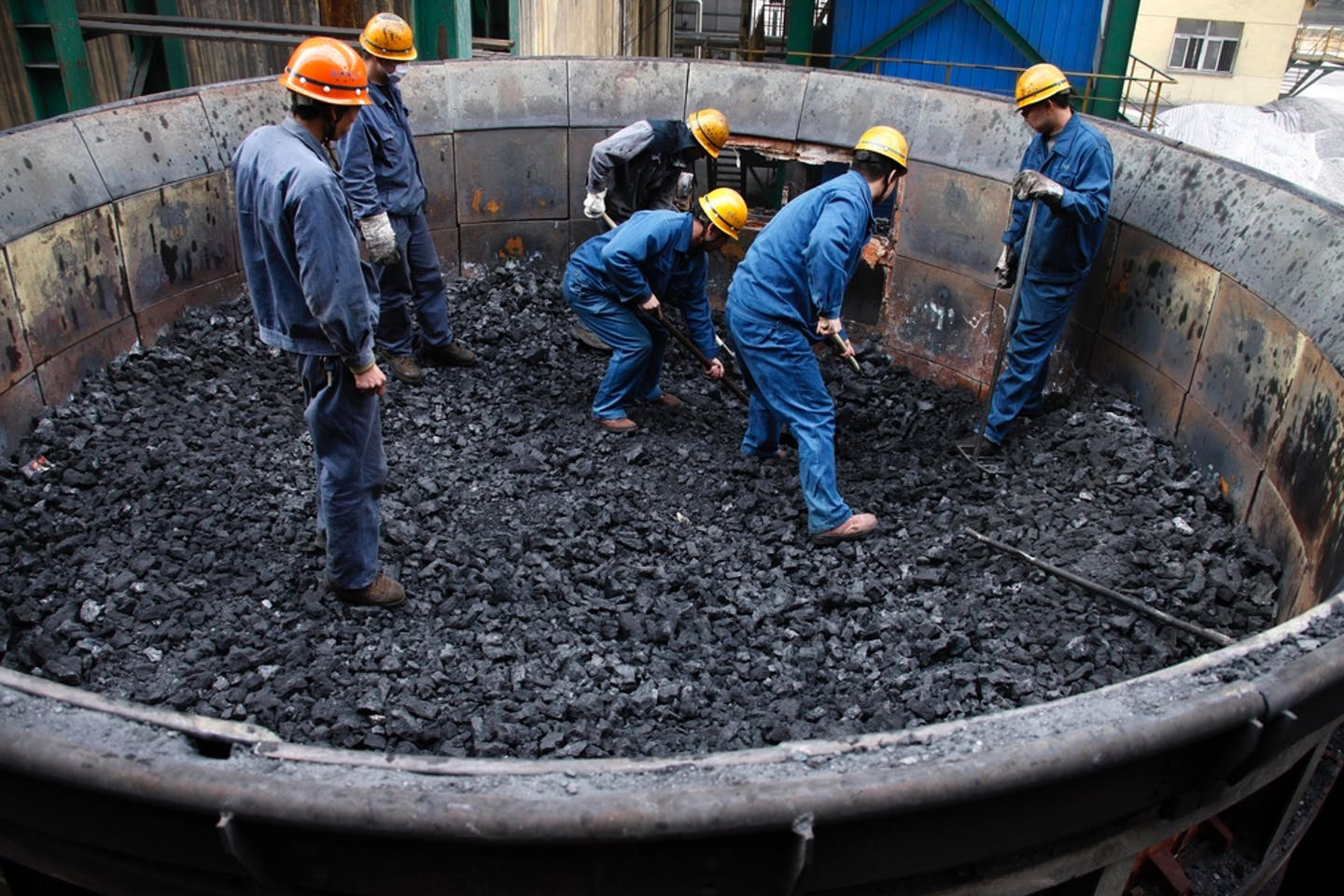 china coal plant workers