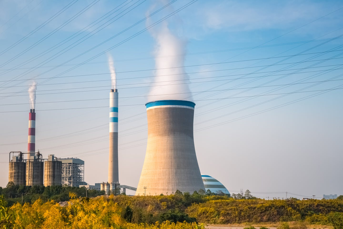 china coal plant in the afternoon