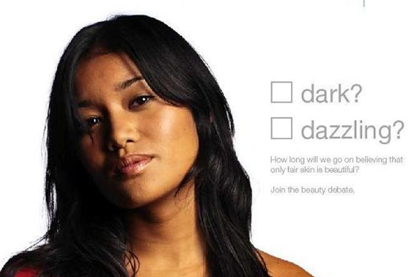 An advertisement for Dove soap.