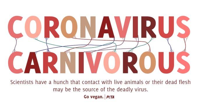 Peta coronavirus tweet