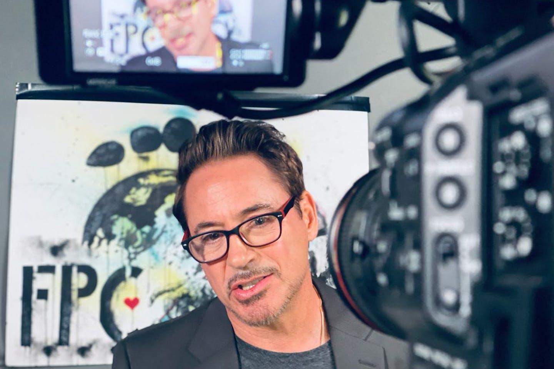 Robert Downey Jr at the launch of Footprint Coalition at Davos
