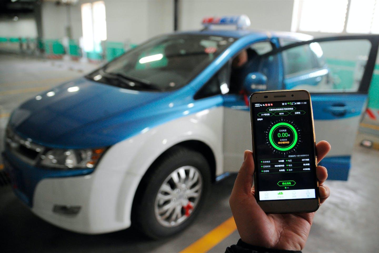 Taiyuan electric taxi