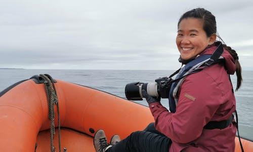 Students for sustainability… marine biologist Tiffany Goh