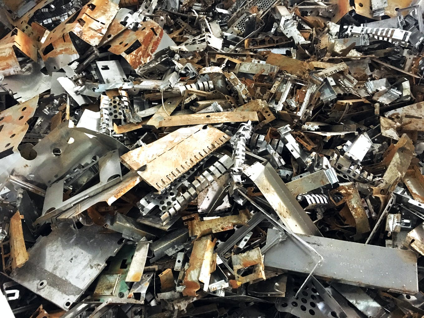 E-waste at a recycling facility in Singapore