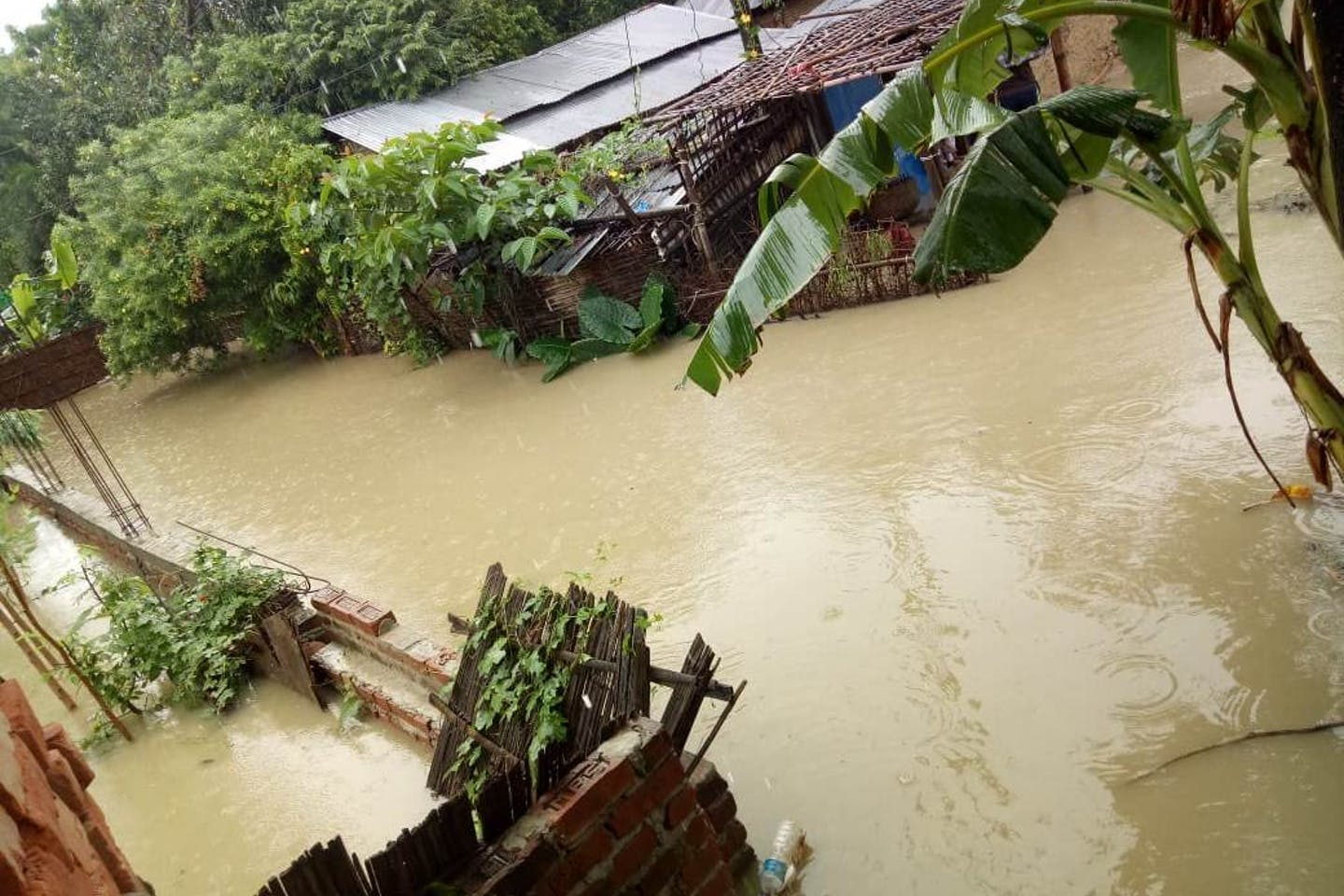 flooded village in nepal