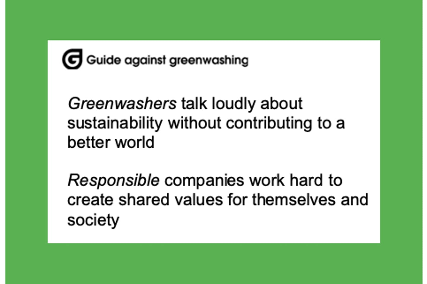 The Guide Against Greenwashing from Norway